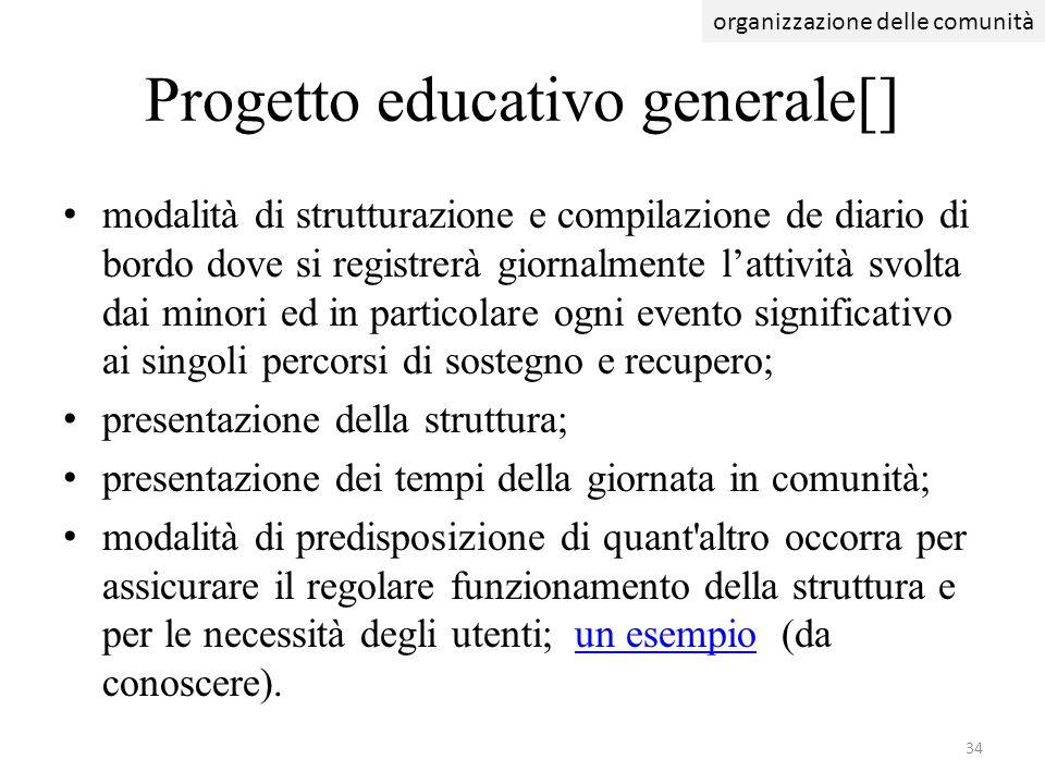 Progetto educativo generale[]
